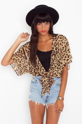 Leopard Tie Cardi